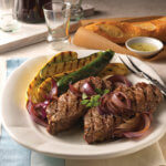 Beef Top Loin Steaks with Balsamic Red Onion Relish