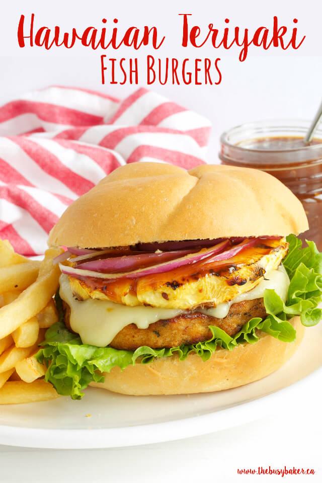 Teriyaki Recipes | Hawaiian Teriyaki Fish Burgers Recipe from The Busy Baker