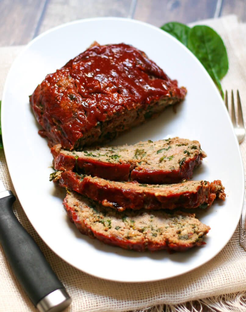 Turkey Meatloaf with Spinach and Kale