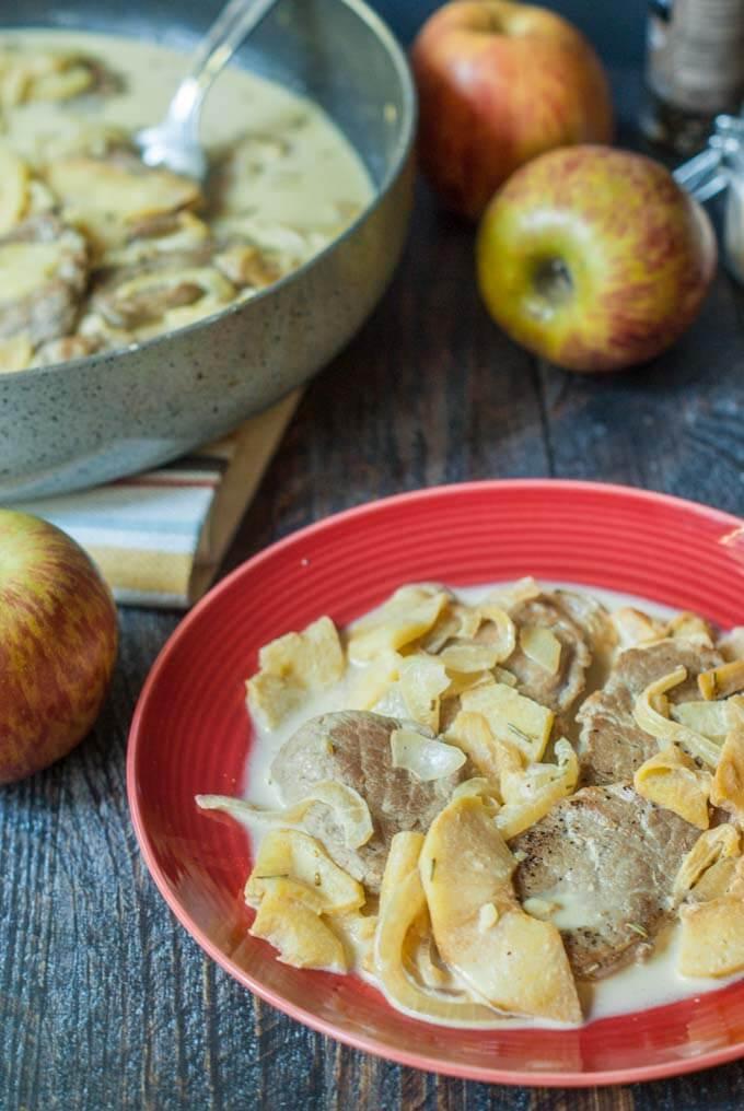 Creamy Pork & Apples Skillet Dinner