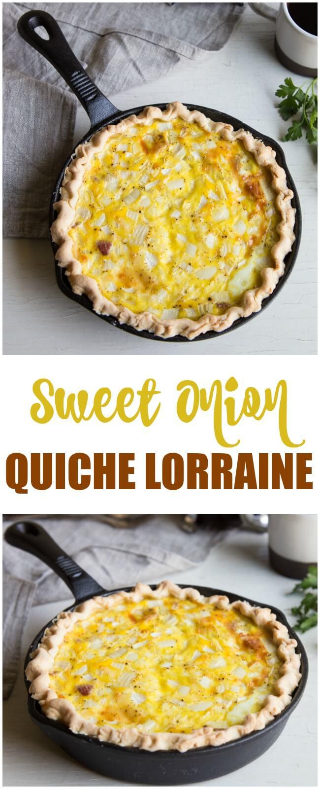 Sweet Onion Quiche Lorraine