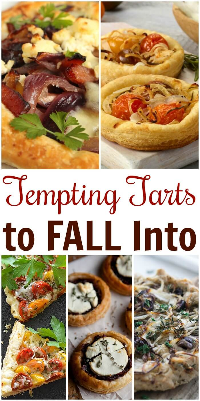 Fall is the perfect time for snacks and entertaining.  Here's an array of amazing and Tempting Tarts with Onions everyone will love.