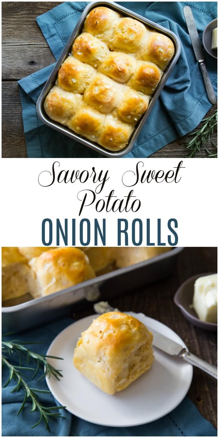 Savory Sweet Potato and Onion Dinner Rolls