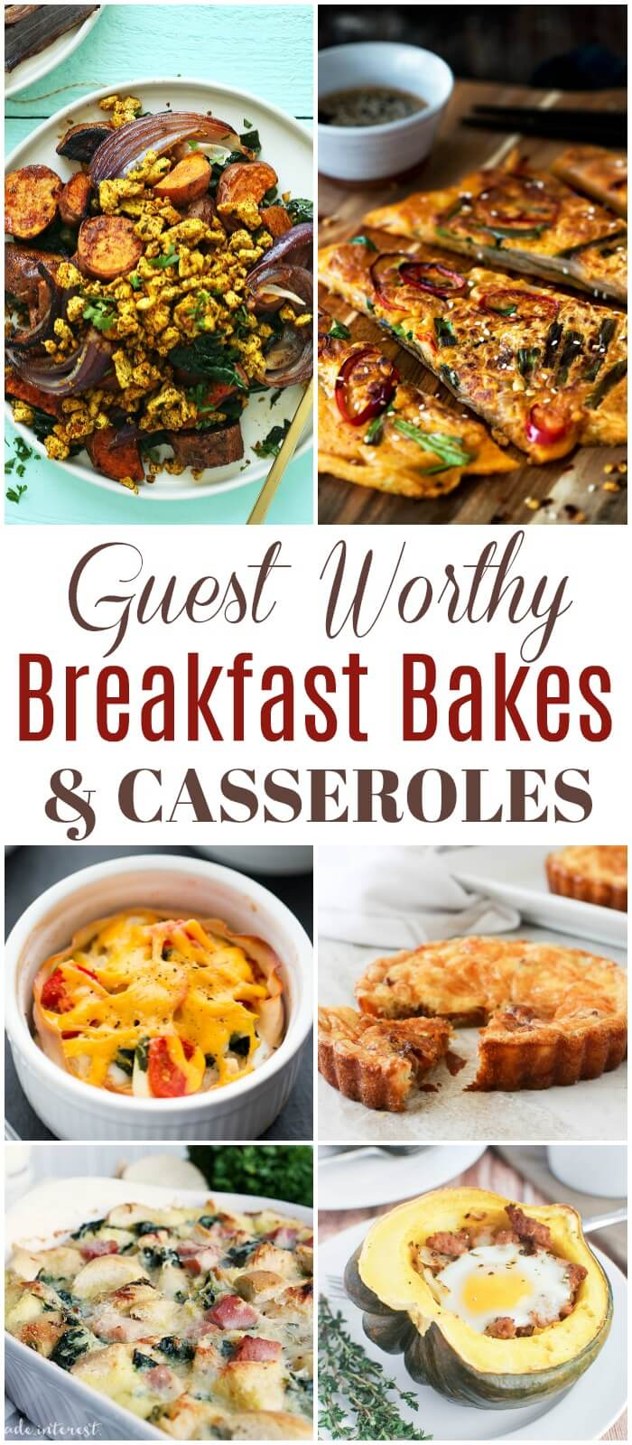 During the holidays serve family and friends delicious and amazing Guest Worthy Breakfast Bakes and Casseroles. These recipes are perfect for any occasion.