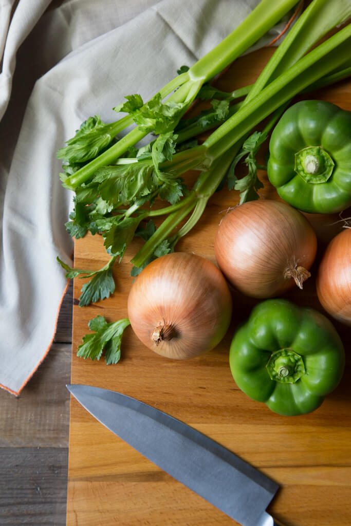 Onions, celery, and green peppers make up The Cajun Holy Trinity. Learn more at onions-usa.org!