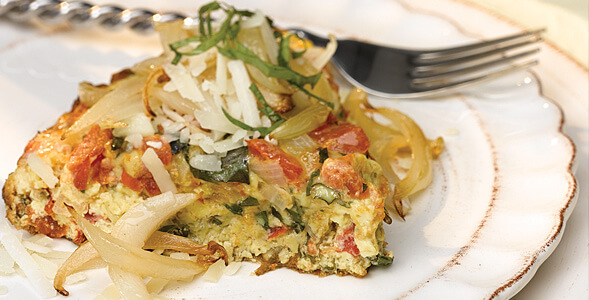 frittata with onions