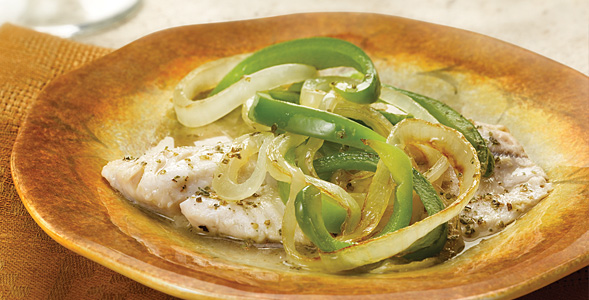 Garden Style Fish w/ Onions and Bell Peppers