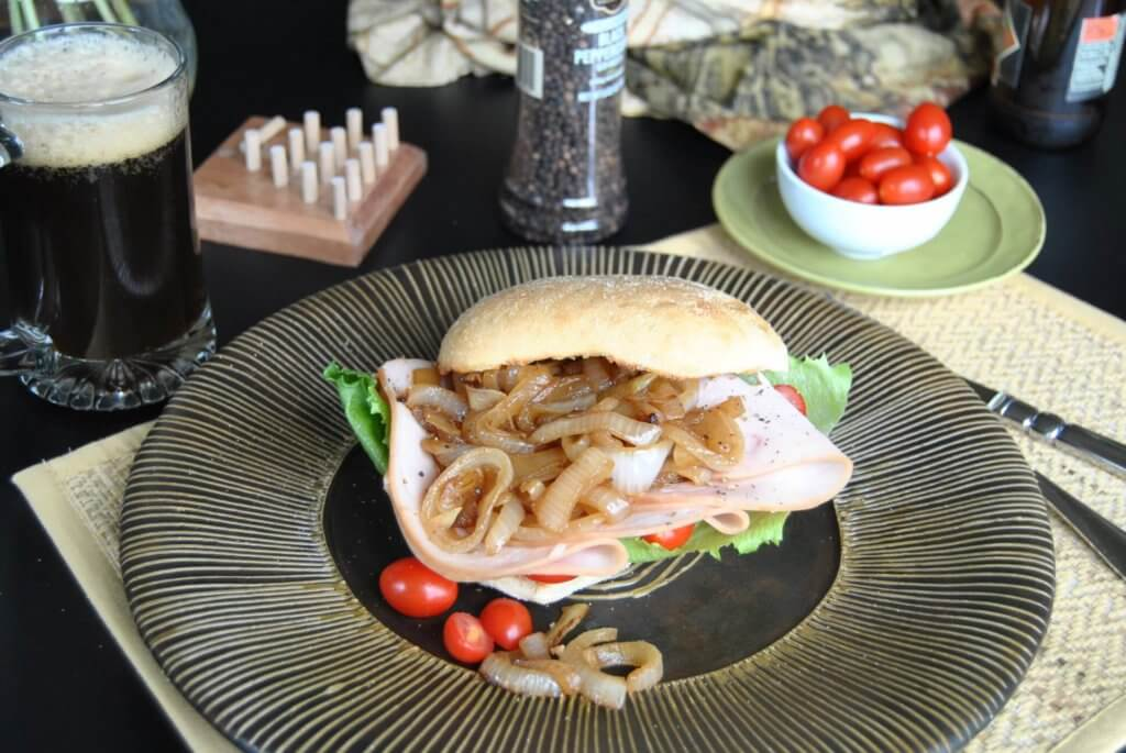 Roast Turkey Sandwich with  Caramelized Balsamic Onions photo.