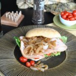 Caramelized Onions on Turkey Sandwich