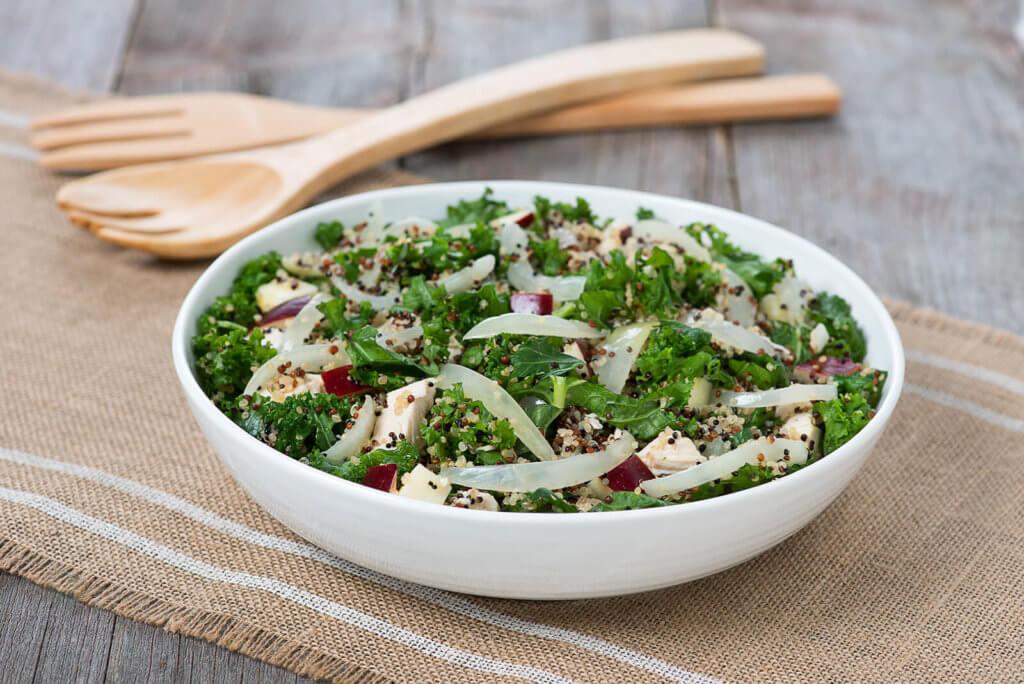 onion and quinoa salad