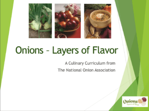 onion curriculum — Culinary Education