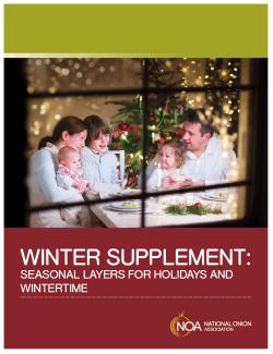 Winter Supplement - Dietitian Toolkit