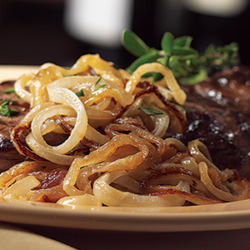 Anejo Caramelized Onion with New York Strip Steak