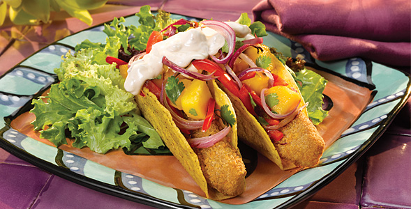 Baja Fish Tacos with Onion Mango Salsa National Onion Association