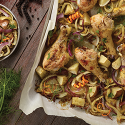 Easy Chicken Citrus, Fennel and Onion Sheet Pan Meal National Onion Association