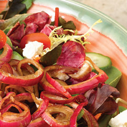 Garden Salad with Balsamic Marinade Onions National Onion Association