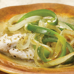 Garden-Style Fish with Onions and Bell Peppers National Onion Association