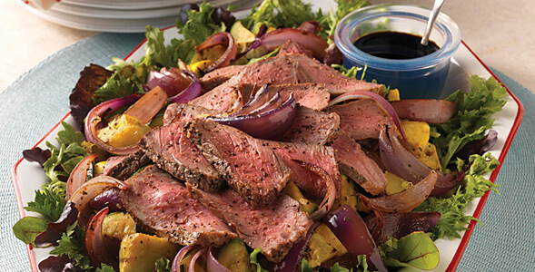 Grilled Beef & Onion Salad National Onion Association
