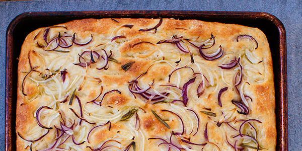 Onion and Rosemary Focaccia National Onion Association