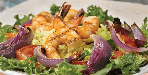 Paella Prawn Salad
