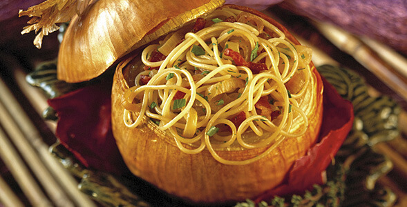 Stuffed Onions with Pasta National Onion Association