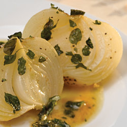 Roasted Onions with Herb Butter Sauce National Onion Association