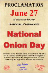 June 27 is National Onion Day — How will you celebrate?