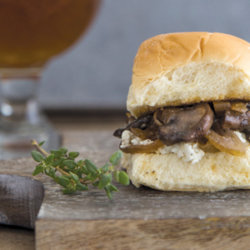 Maibock Mushroom, Caramelized Onion and Goat Cheese Sliders National Onion Association