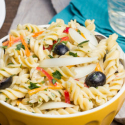 Sweet Onion Pasta Salad with Creamy Herb Dressing National Onion Association