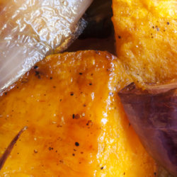 Sweet Potatoes with Onions and Cranberries