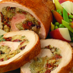 Turkey Spiral with Onion-Dried Cherry Stuffing