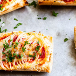 Crusty Onion Bruschetta slices