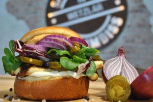 Hamburger with onions