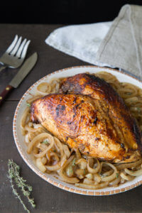 Roasted Turkey Breast with Balsamic Onion