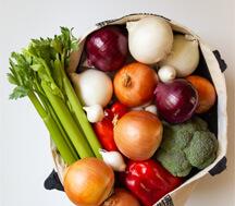 Shopping bag of vegetables